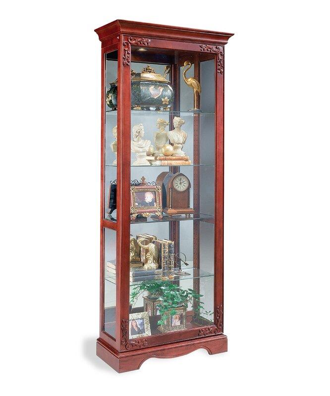 Philip Reinisch Co. Andante Lighted Curio Cabinet & Reviews