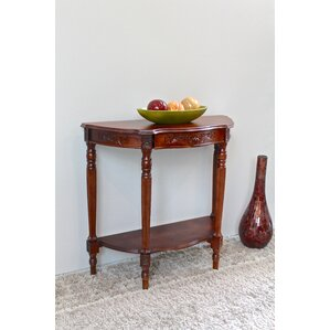 Barron Hand Carved Half Moon Console Table by Astoria Grand