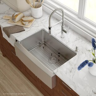 Medium image of handmade series 29 75 u201d x 20 75 u201d farmhouse kitchen sink with faucet and soap dispenser