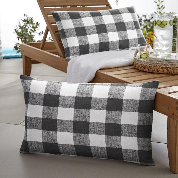 Banbridge Buffalo Outdoor Lumbar Pillow (Set of 2) by Mozaic Company