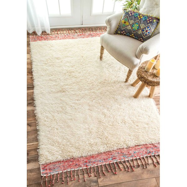 Ibrahima Hand Tufted Cream Area Rug by Bungalow Rose