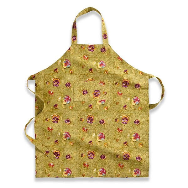 Pansy Red Green Apron by Couleur Nature