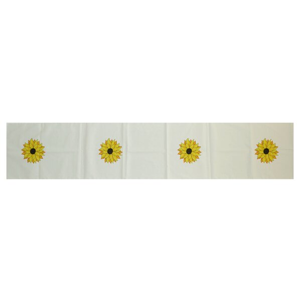 Vieux Sunflower Power Floral Print Table Runner by August Grove