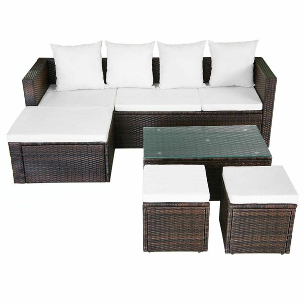 Frey Garden 4 Piece Rattan Sofa Seating Group with Cushions by Brayden Studio