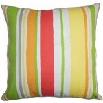 Ibbie Stripes Throw Pillow by The Pillow Collection