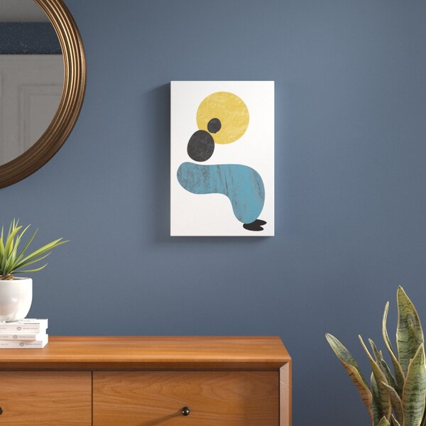 Abstract Lady Painting Print on Wrapped Canvas by Langley Street