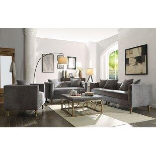 Brent 3 Piece Velvet Living Room Set by House of Hampton®
