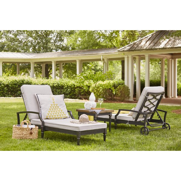 Euston Reclining Chaise Lounge with Cushion (Set of 2) by Canora Grey Canora Grey