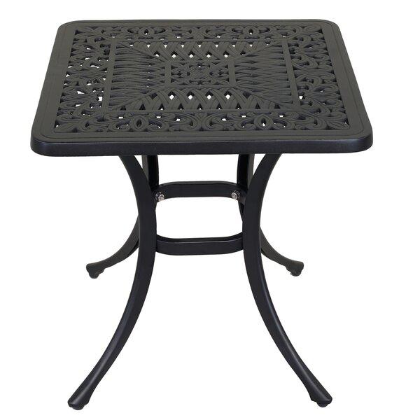 Thorsby Aluminum Side Table by Fleur De Lis Living