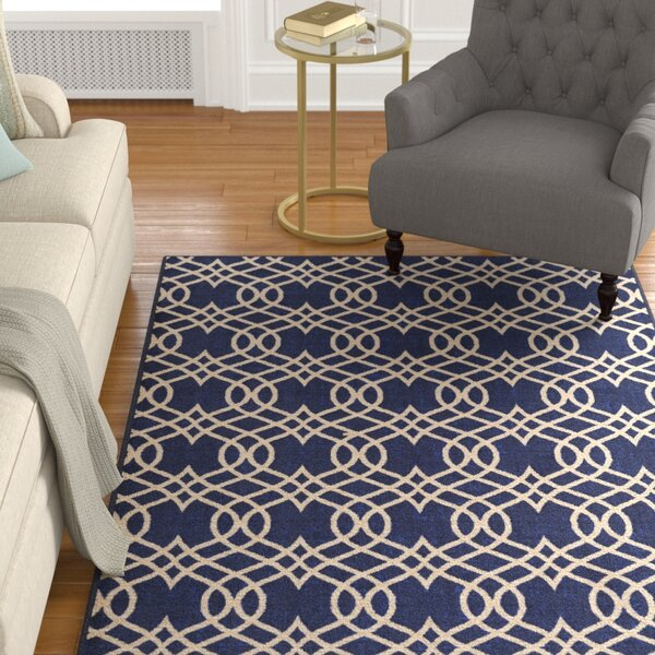 Hardenburgh Blue/Beige Area Rug by Alcott Hill