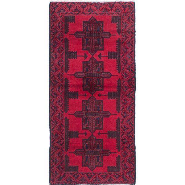 One-of-a-Kind Rizbaft Handmade Red Area Rug by ECARPETGALLERY