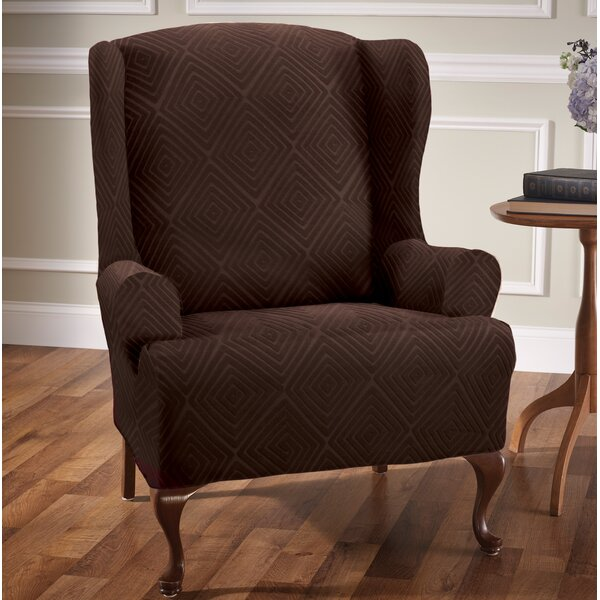 Diamond T-Cushion Wingback Slipcover by Symple Stuff