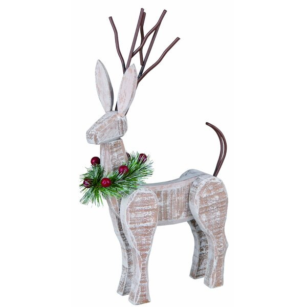Small Wood Reindeer Decor by The Holiday Aisle