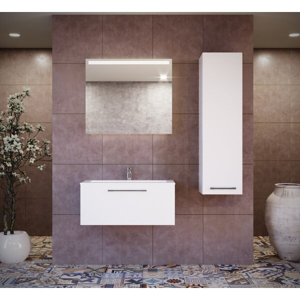 Violet 24 Wall-Mounted Single Bathroom Vanity Set with Mirror by Orren Ellis