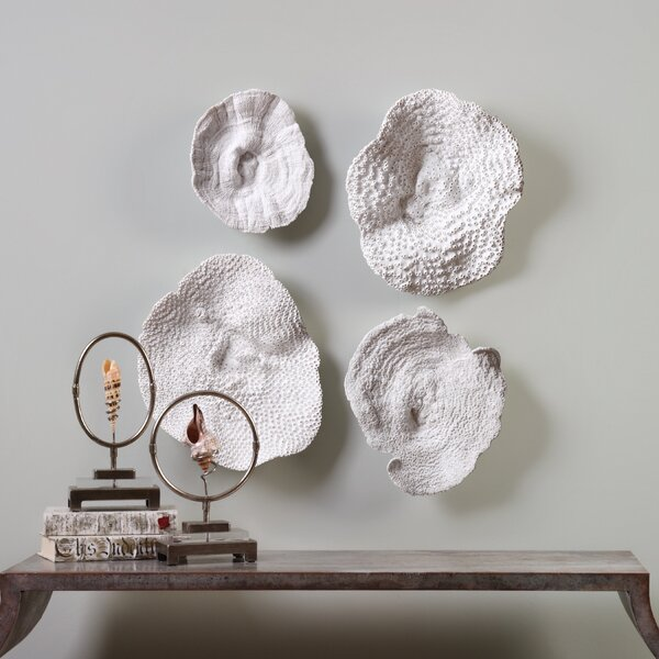 4 Piece Sea Coral Wall Décor Set by Rosecliff Heights