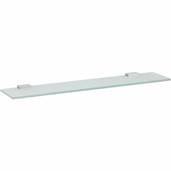 Brouillette Wire Wall Mounted Glass Shelf by Rebrilliant