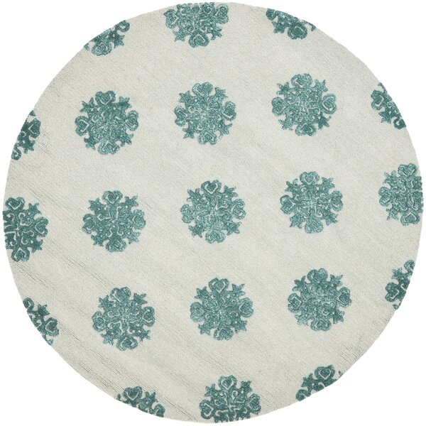 Marcello Ivory/Blue Area Rug by Alcott Hill