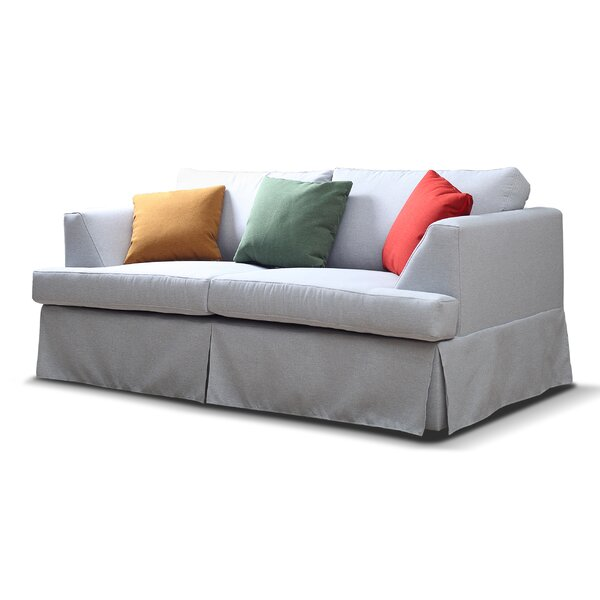 Johnston Recessed Arm Loveseat By Longshore Tides