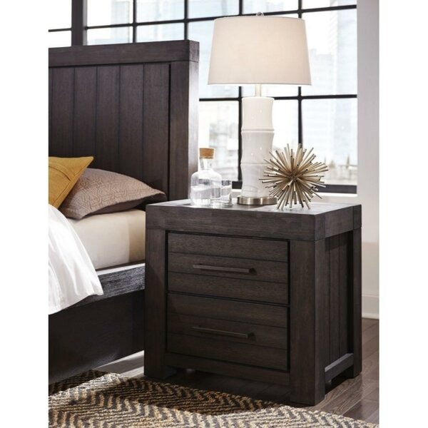 Osorio Wooden 2 Drawer Nightstand By Williston Forge by Williston Forge Design