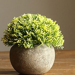 Rustic Artificial Boxwood Desktop Topiary by Gracie Oaks