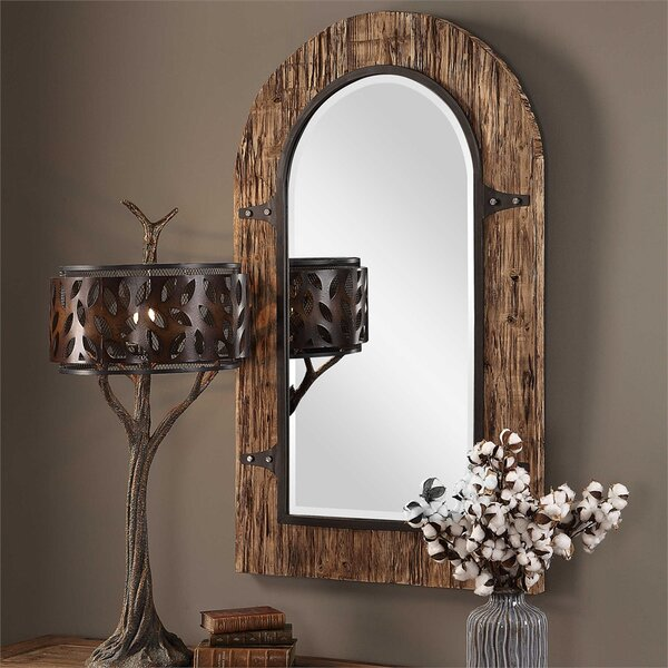 Eric Wooden Arch Accent Mirror by Millwood Pines