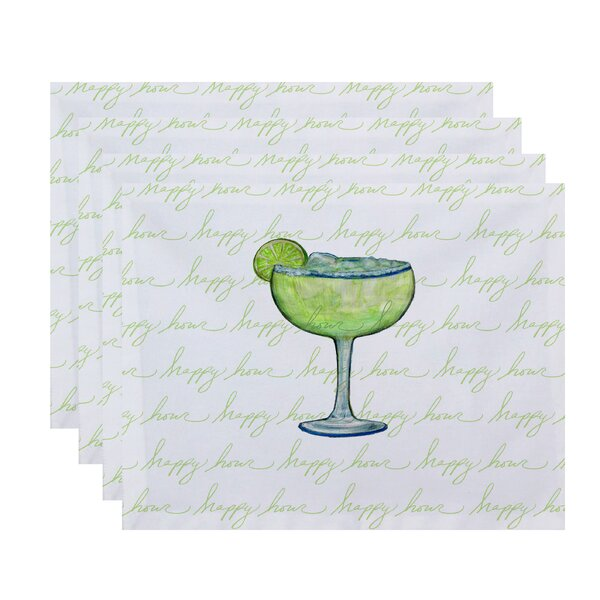 Felice Margarita Text Fade Happy Hour Placemat (Set of 4) by Ivy Bronx