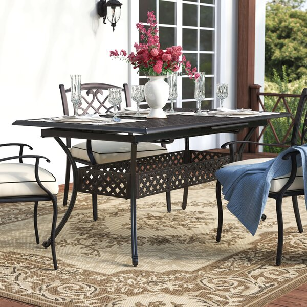 Savannah  Extendable Metal Dining Table by Darby Home Co