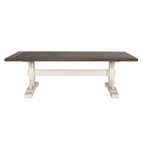 Dukes Solid Wood Dining Table by Rosecliff Heights