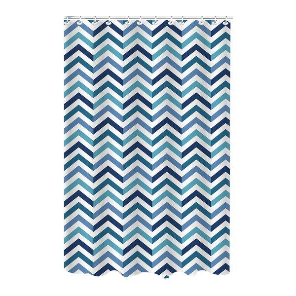Romanowski Chevron Weave Shower Curtain by Wrought Studio