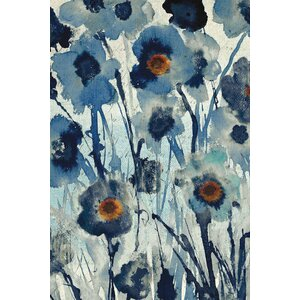 Forget Me Not I Painting Print on Wrapped Canvas by East Urban Home