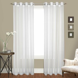 Ortley Solid Sheer Grommet Curtain Panels (Set of 2)