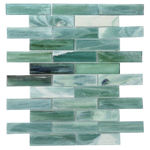 Laguna Glass Mosaic Tile in Green by Byzantin Mosaic