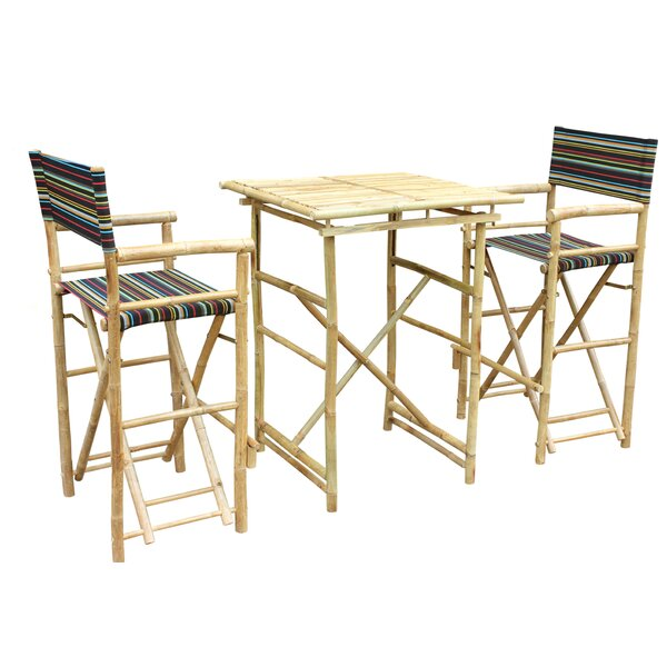 Locke 3 Piece Pub Table Set by Bay Isle Home