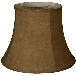 Best Deals 16 Faux Leather Bell Lamp Shade By Alcott Hill