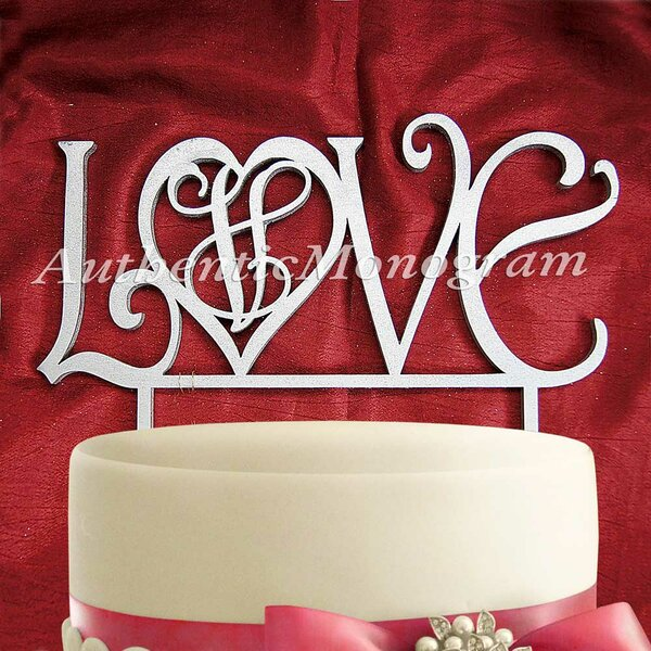 Love Wooden Cake Topper by aMonogram Art Unlimited