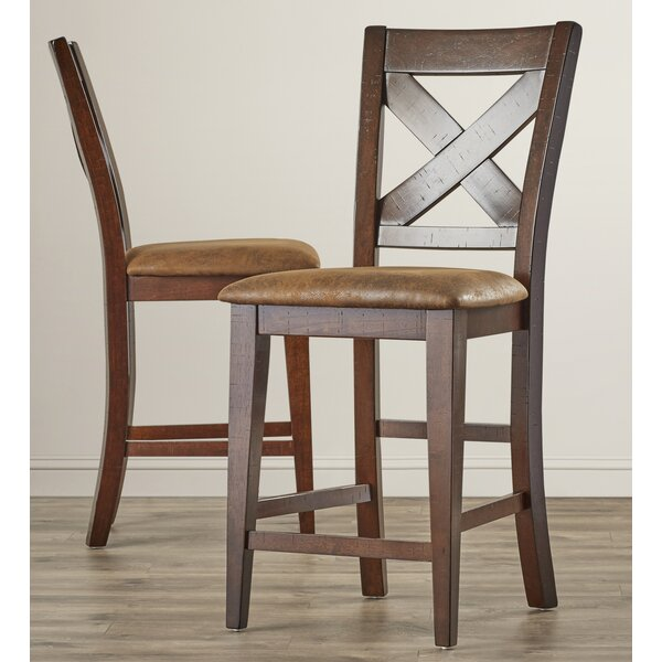 Mannox 25.75 Bar Stool (Set of 2) by Alcott Hill