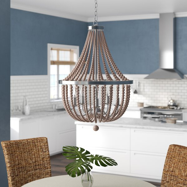 Tilden Wood Bead 5-Light Empire Chandelier by Bay Isle Home