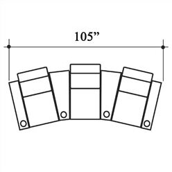 Diplomat Leather Home Theater Row Seating (Row Of 3) By Bass