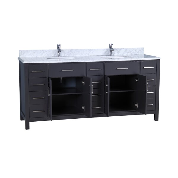 Prestwick Modern 72 Double Bathroom Vanity Set by Breakwater Bay