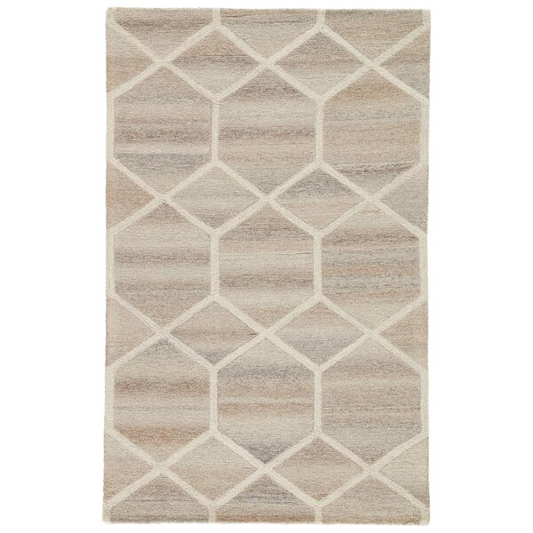 Tulsa Hand Tufted Wool Beige Area Rug by Wrought Studio