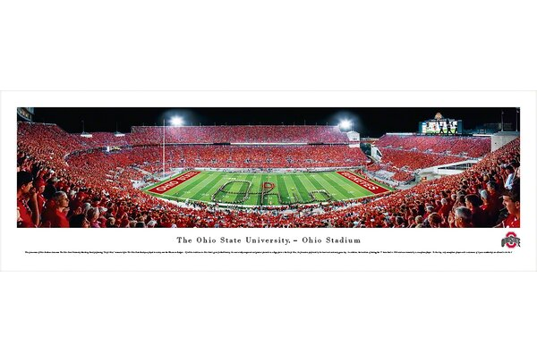 NCAA Ohio State University - Football - Script Photographic Print by Blakeway Worldwide Panoramas, Inc