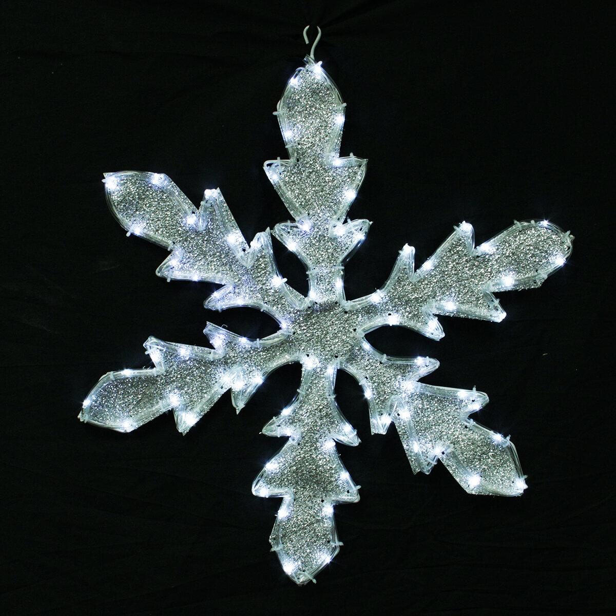 northlight lighted indooroutdoor tube light snowflake christmas decoration wayfair