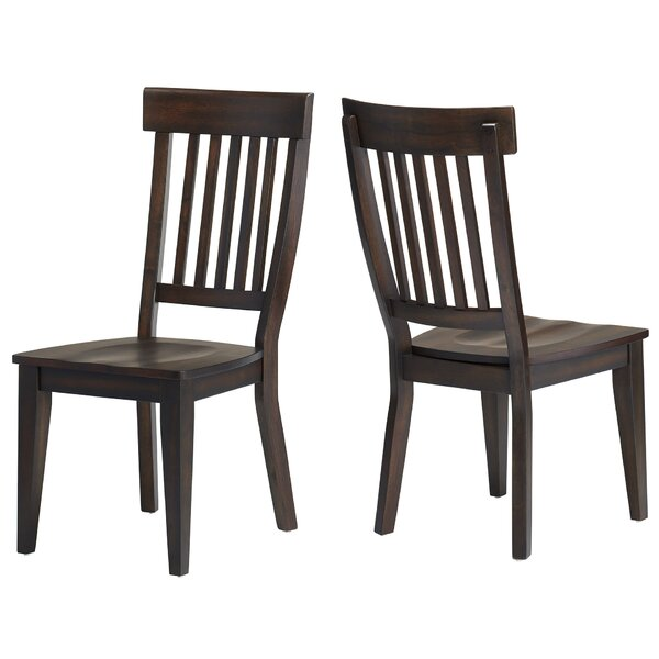 Carlsen Rake Back Solid Wood Dining Chair (Set of 2) by Gracie Oaks