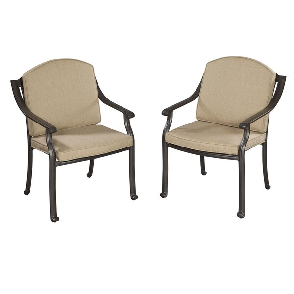 Covington Patio Dining Chair with Cushion (Set of 2) by Home Styles