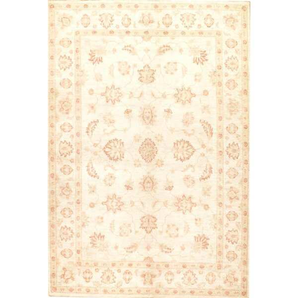 Farahan Original Hand-Knotted Wool Ivory Area Rug by Pasargad NY