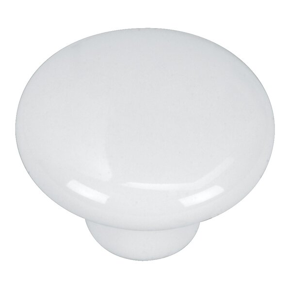 Porcelain Mushroom Knob by Hardware House