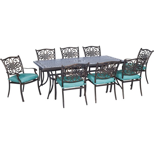 Layman 17 Piece Rectangular Dining Set by Three Posts