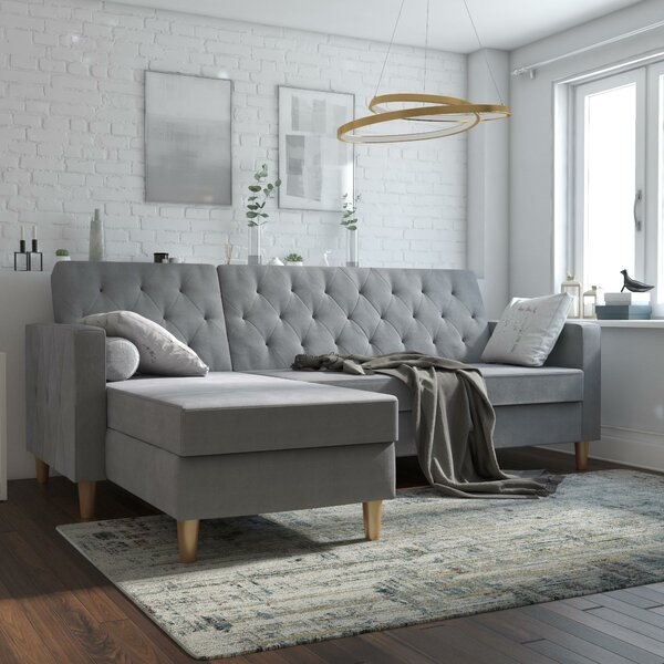 Liberty Reversible Sleeper Sectional By CosmoLiving By Cosmopolitan