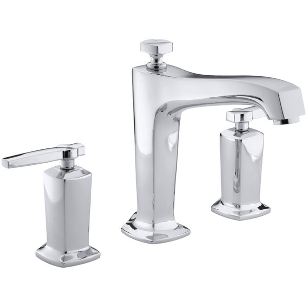 Margaux Deck-Mount Bath Faucet Trim for High-Flow Valve with Non-Diverter Spout and Lever Handles, Valve Not Included by Kohler