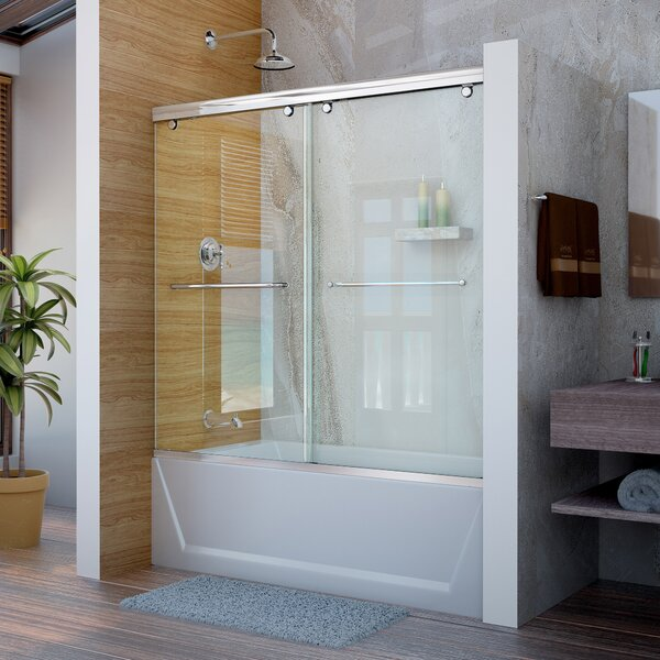 Charisma 60 x 58 Bypass Semi-Frameless Shower Door with Clearmax™ Technology by DreamLine